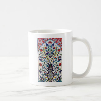 Traditional islamic floral design tiles coffee mug