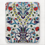 Traditional islamic floral design tiles mouse pad
