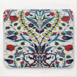 Traditional islamic floral design tiles mousepad