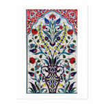 Traditional islamic floral design tiles postcard