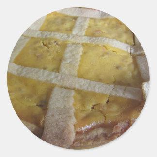 Traditional italian cake Pastiera Napoletana Classic Round Sticker