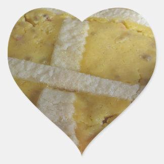 Traditional italian cake Pastiera Napoletana Heart Sticker