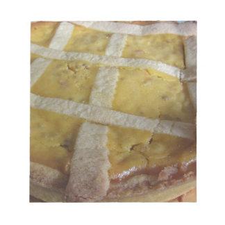 Traditional italian cake Pastiera Napoletana Notepad