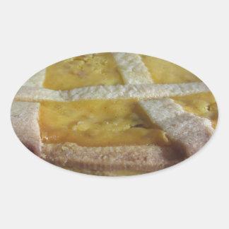Traditional italian cake  Pastiera Napoletana Oval Sticker