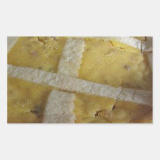 Traditional italian cake Pastiera Napoletana Rectangular Sticker
