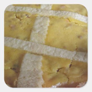 Traditional italian cake Pastiera Napoletana Square Sticker