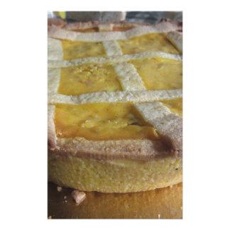 Traditional italian cake  Pastiera Napoletana Stationery