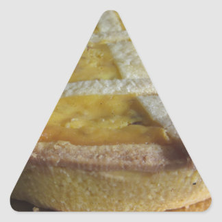 Traditional italian cake  Pastiera Napoletana Triangle Sticker