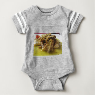 Traditional italian Paccheri pasta with artichokes Baby Bodysuit