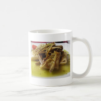 Traditional italian Paccheri pasta with artichokes Coffee Mug