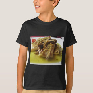 Traditional italian Paccheri pasta with artichokes T-Shirt