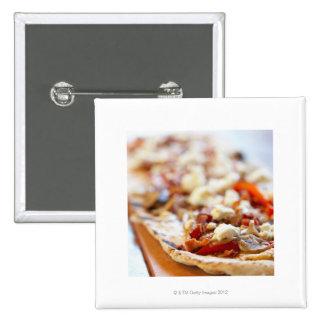 Traditional Italian pizza 15 Cm Square Badge