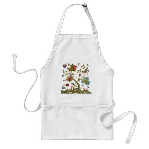 Traditional Jacobean Deerwood Embroidery Aprons