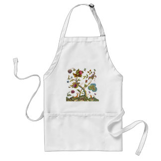 Traditional Jacobean Deerwood Embroidery Standard Apron