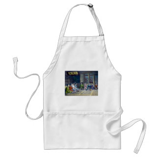 Traditional Japanese Family Meal Hand Tinted 家族 Standard Apron