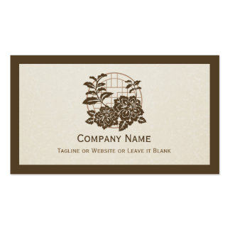 Traditional Japanese Floral Pattern - Simple Chic Double-Sided Standard Business Cards (Pack Of 100)