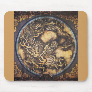 Traditional Japanese Oriental Dragon - 日本 - 鳴き龍 Mouse Pad