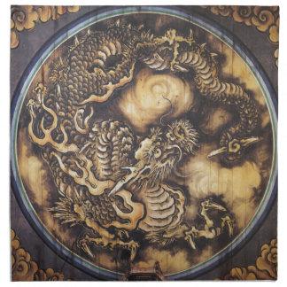 Traditional Japanese Oriental Dragon - 日本 - 鳴き龍 Napkin