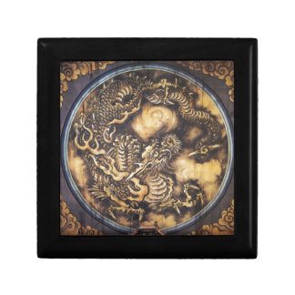 Traditional Japanese Oriental Dragon - 日本 - 鳴き龍 Small Square Gift Box