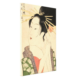 Traditional Japanese woman Canvas Print