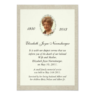 Death Announcement Cards & Invitations | Zazzle.com.au