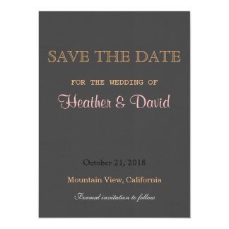 Traditional Linen Save the Date Wedding Invitation