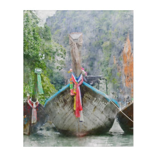 Traditional Long Boat in Thailand Acrylic Print
