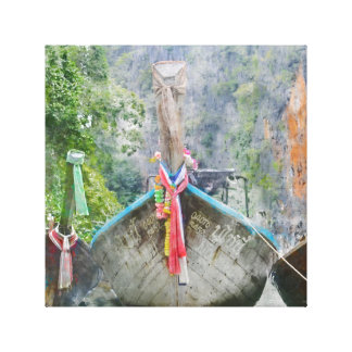 Traditional Long Boat in Thailand Canvas Print