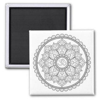 Traditional Mandala Square Magnet