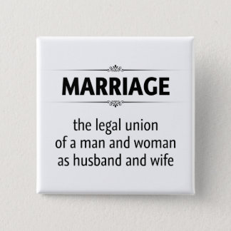 Traditional Marriage 15 Cm Square Badge