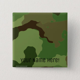 Traditional military camouflage 15 cm square badge