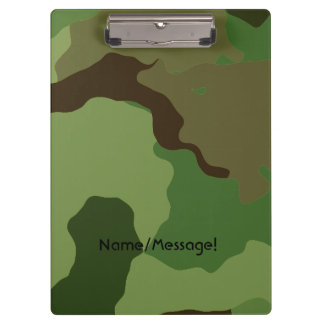 Traditional military camouflage clipboard