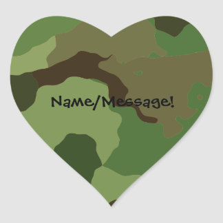 Traditional military camouflage heart sticker