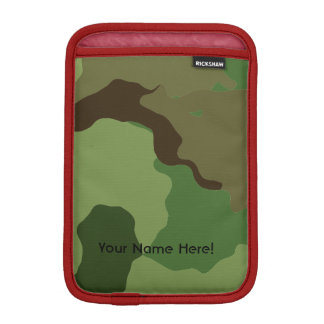 Traditional military camouflage iPad mini sleeve