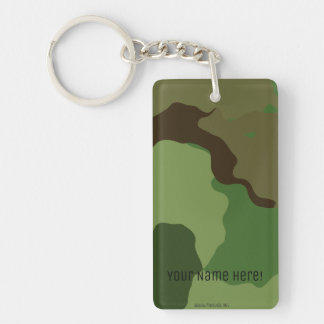 Traditional military camouflage key ring