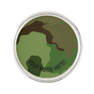 Traditional military camouflage. lapel pin