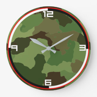 Traditional military camouflage. large clock