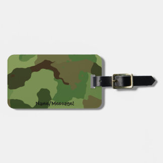 Traditional military camouflage luggage tag