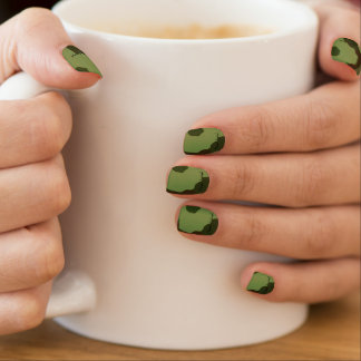 Traditional military camouflage minx nail art