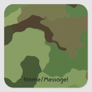 Traditional military camouflage square sticker