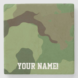 Traditional military camouflage. stone coaster