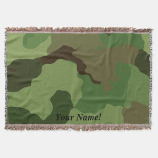 Traditional military camouflage. throw blanket