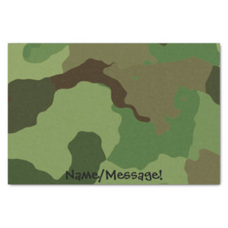 Traditional military camouflage tissue paper