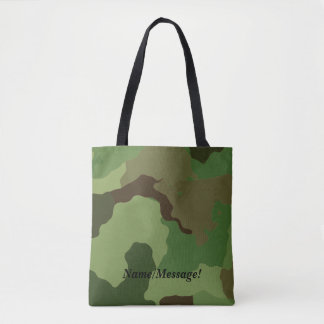 Traditional military camouflage tote bag