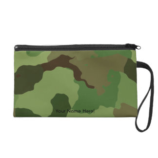 Traditional military camouflage wristlet