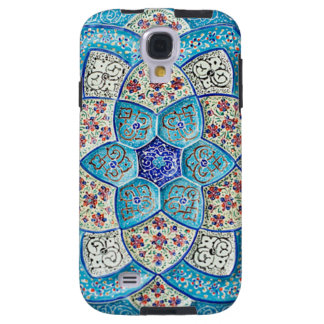 Traditional Moroccan turquoise Blue, white, salmon Galaxy S4 Case