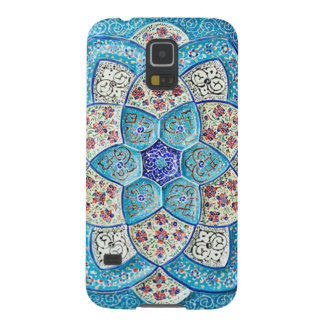 Traditional Moroccan turquoise Blue, white, salmon Galaxy S5 Case