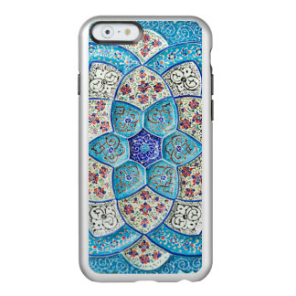 Traditional Moroccan turquoise Blue, white, salmon Incipio Feather® Shine iPhone 6 Case