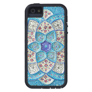 Traditional Moroccan turquoise Blue, white, salmon iPhone 5 Cover