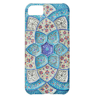 Traditional Moroccan turquoise Blue, white, salmon iPhone 5C Case